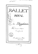 Image from Gallica about Ballet de l'impatience. LWV 14