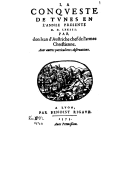 Illustration de la page Tunis (Tunisie) -- 1573-1574 (Conquête espagnole) provenant du document numerisé de Gallica