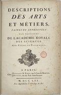 Art de faire le papier <br> J. de La Lande. 1761