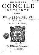 Bildung aus Gallica über Istoria del Concilio tridentino