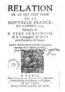 Illustration de la page Relation de ce qui s'est passé en la Nouvelle France en l'année 1634 provenant de Wikipedia
