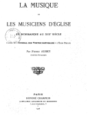 Image from Gallica about Musique chrétienne -- Église catholique