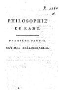 Bildung aus Gallica über Philosophie transcendantale