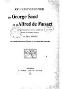 Correspondance de George Sand et d
