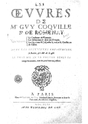 Image from Gallica about Guy Coquille (1523-1603)