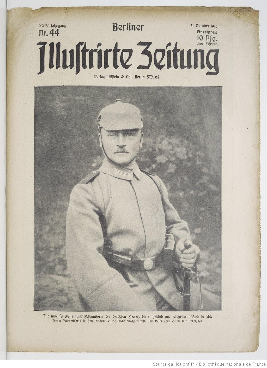 Front page of Berliner illustrierte Zeitung