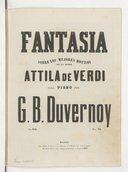 Illustration de la page Fantaisies. Piano. Attila. Verdi, Giuseppe provenant de Wikipedia