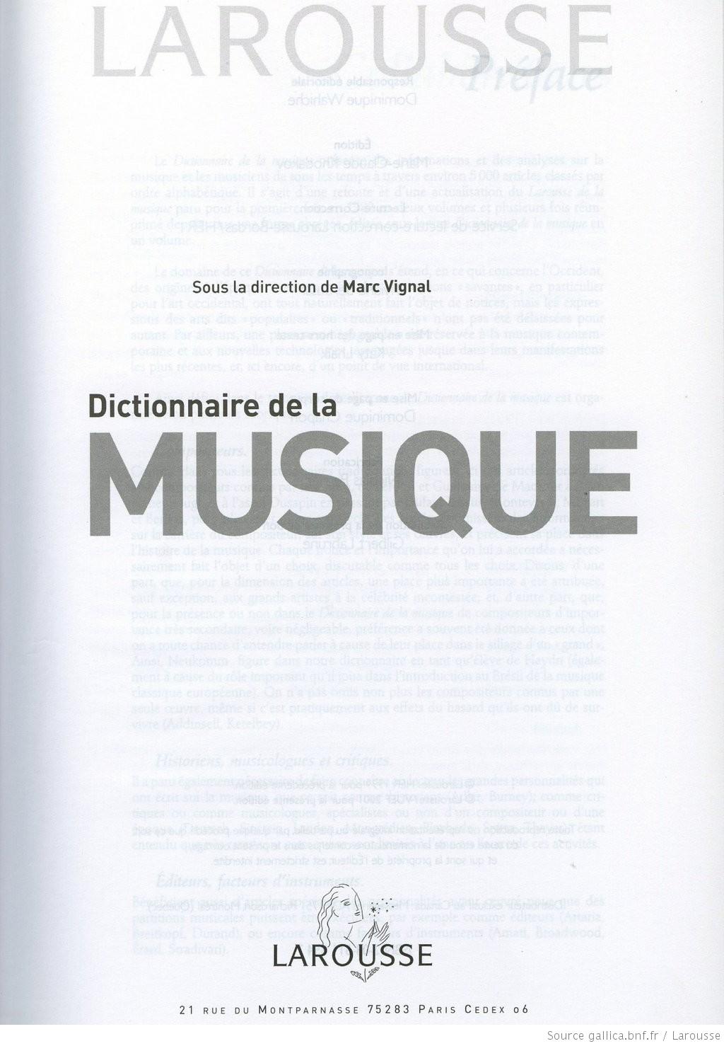 encyclopedie larousse de la musique