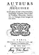 Bildung aus Gallica über Antoine Dezallier (1642?-1716)