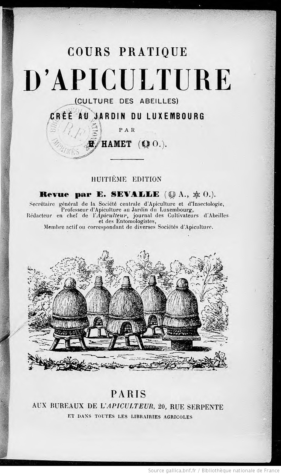 Ouvrages anciens : L' Apiculture F7