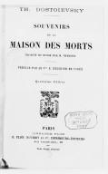 Image from Gallica about Souvenirs de la maison des morts