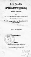 Le Nain politique, roman historique  S. de Choiseul-Gouffier. 1826