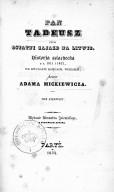 L'épopée polonaise : Messire Thadée