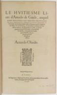 Image from Gallica about Amadís de Gaula. Libro IX. Amadís de Grecia