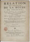 Relation du voyage de la Royne de Pologne et du retour de Mme la mareschalle de Guébriant, ambassadrice extraordinaire [...]avec un traité particulier du royaume de Pologne  J. le Laboureur. 1647