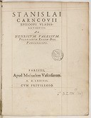 Ad Henricum Valesium, Poloniarum regem des. panegyricus  S. Karnkowski. 1574