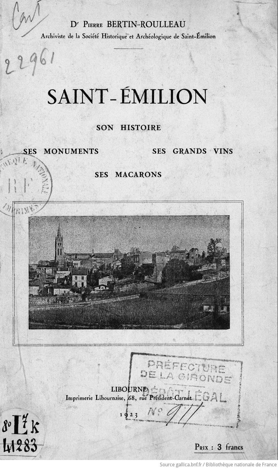 saint emilion histoire