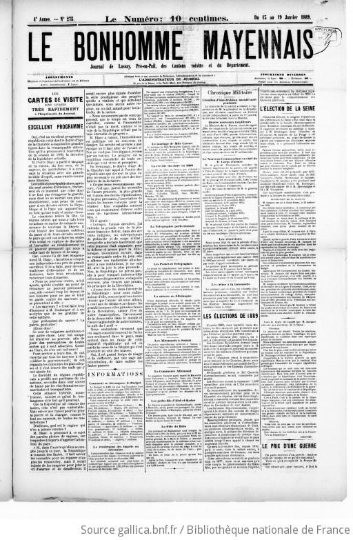 Le Bonhomme Mayennais Journal De Lassay Pr En Pail Et Cantons Voisins Puis Des Du Dpartement