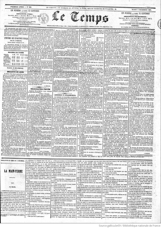 Le Temps 1861 12 03 Gallica