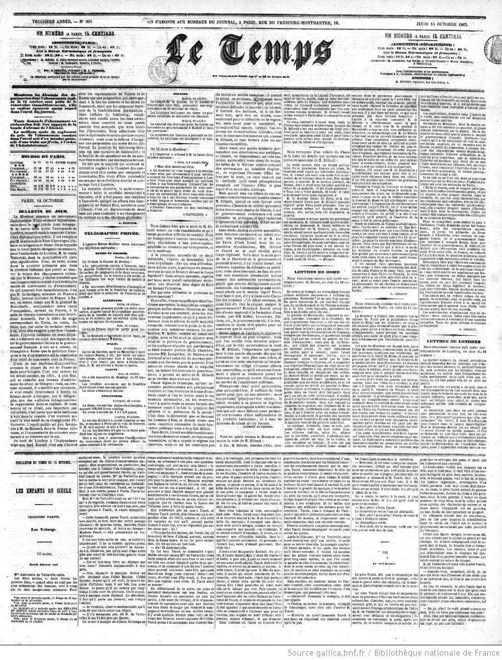 Le Temps | 1863-10-15 | Gallica