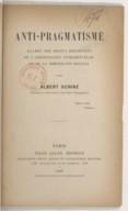 Bildung aus Gallica über Albert Schinz (1870-1943)