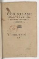 Bildung aus Gallica über Coriolano Martirano (1503-1557)