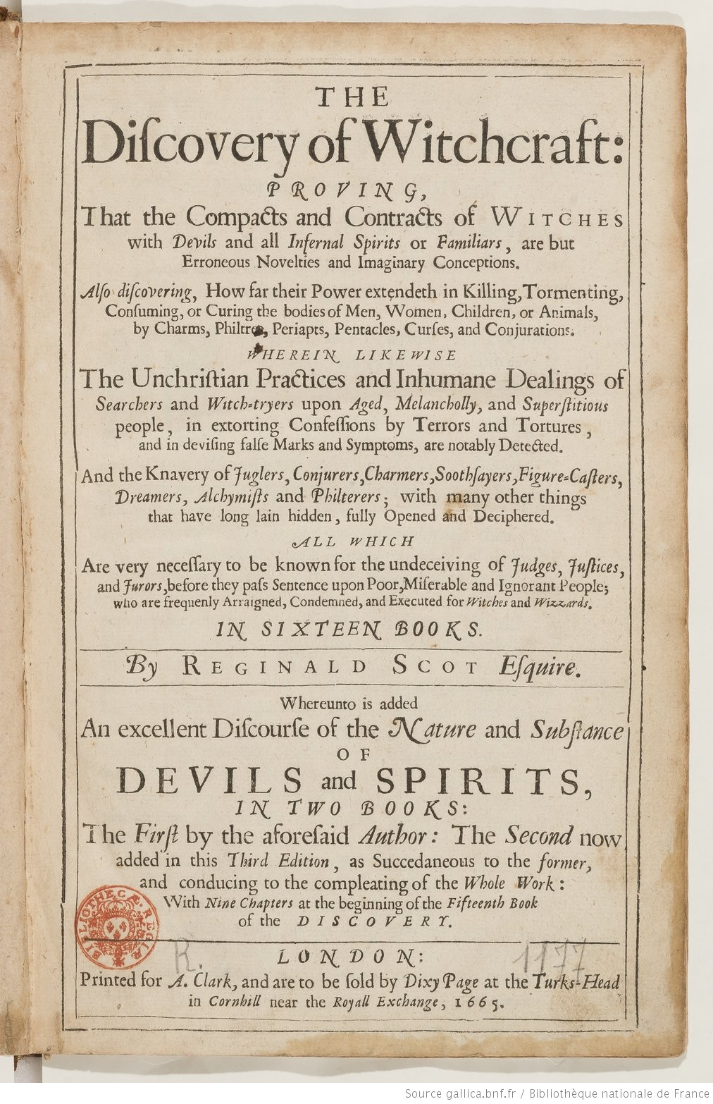 The Discovery Of Witchcraft Proving That The Compacts And  # Bibliotheque But