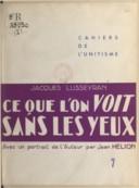 Illustration de la page Jacques Lusseyran (1924-1971) provenant de Wikipedia