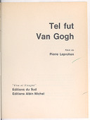 Image from Gallica about Tel fut Van Gogh
