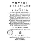 Voyage à la Guyane et à Cayenne, fait en 1789 et années suivantes  L.-M. Prudhomme. 1797