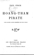 Hoang-Tham, pirate  P. Chack. 1933