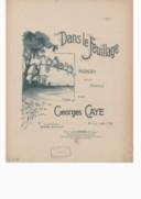 Dans le feuillage : pizzicati pour piano / par Georges Caye ; [ill. par] L. Pousthomis