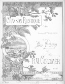 Image from Gallica about Chanson rustique