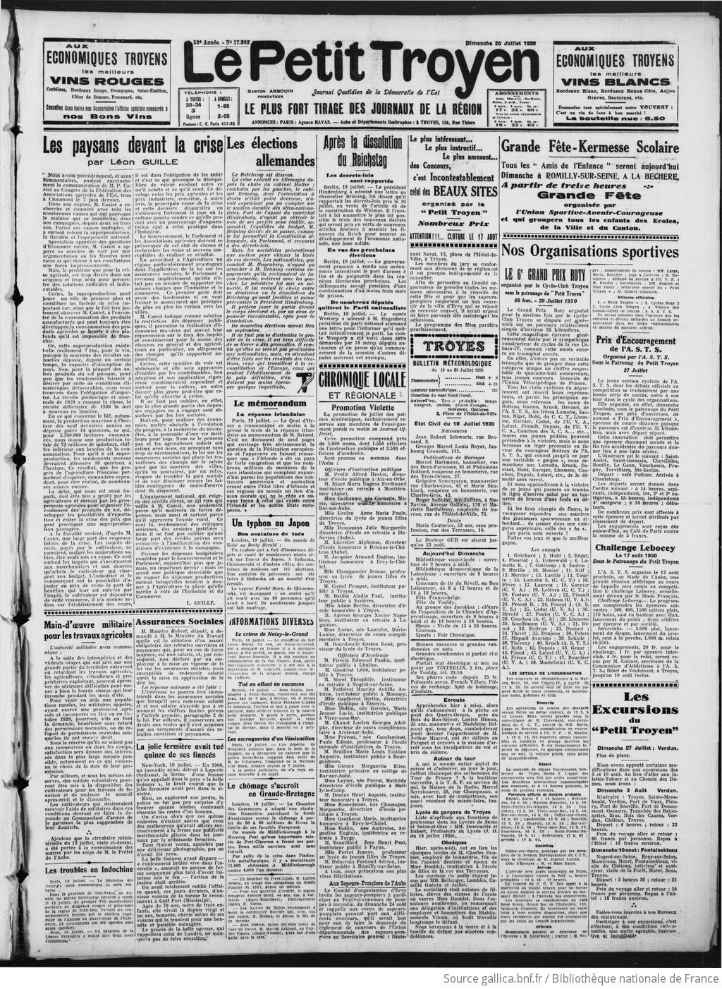3a287f0533cb9d Le Petit Troyen : journal démocratique régional [