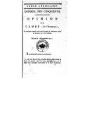 Bildung aus Gallica über Jean-Antoine Cambe (1764-1830)