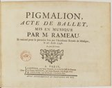 Image from Gallica about Pigmalion. RCT 52