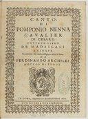 Bildung aus Gallica über Pomponio Nenna (1550?-1613)