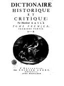 Illustration de la page Dictionnaire historique et critique provenant de Wikipedia