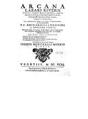 Illustration de la page Lazare Rivière (1589-1655) provenant de Wikipedia