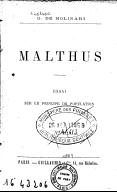 Illustration de la page Thomas Robert Malthus (1766-1834) provenant de Wikipedia