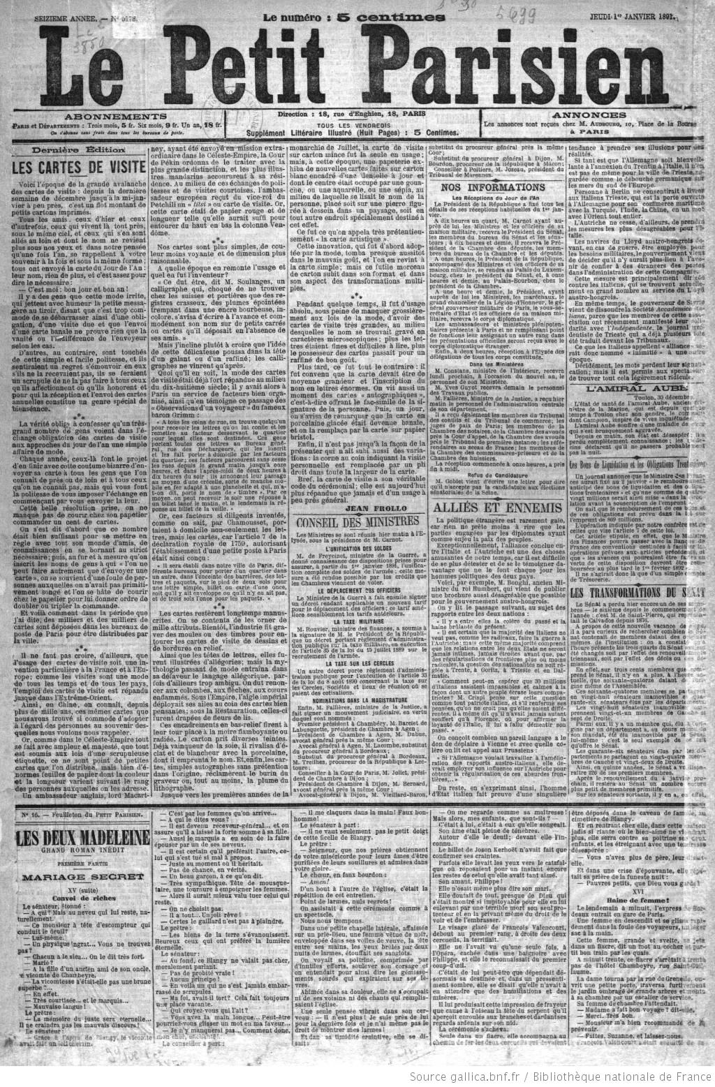 Le Petit Parisien Journal Quotidien Du Soir