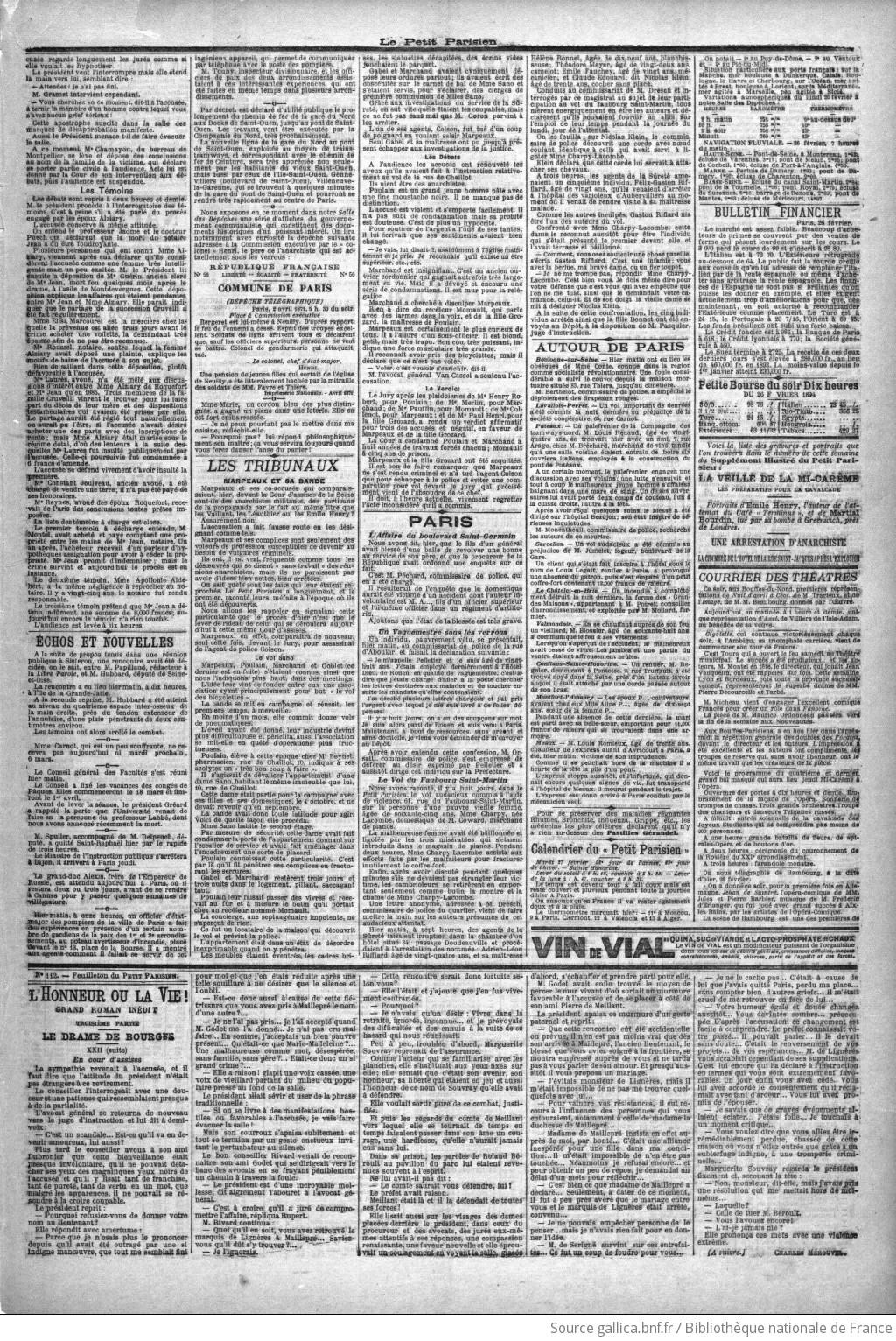 courrier quotidien en ligne datant