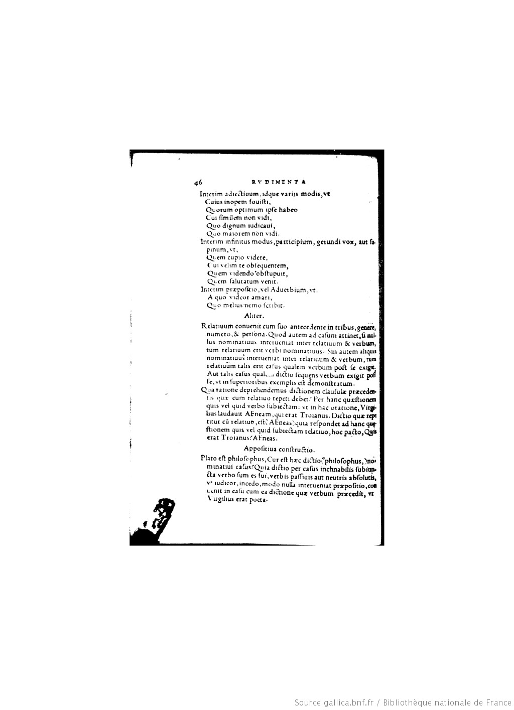 Rudimenta grammatices ([Reprod.]) / Thomae Linacri... ; interprete Georgio Buchanano...