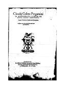Image from Gallica about In Hippocratis De natura hominis librum commentarii