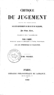 Illustration de la page Kritik der Urteilskraft provenant de Wikipedia