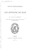 Image from Gallica about Jean-Antoine de Baïf (1532-1589)