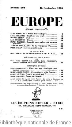 Europe (Paris. 1923)