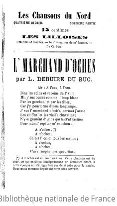 Les Chansons du Nord, par L. Debuire du Buc,...