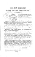 Solution mexicaine : question polonaise, union européenne  C. Damotte. 1863