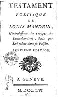 Illustration de la page Testament politique de Louis Mandrin provenant de Wikipedia